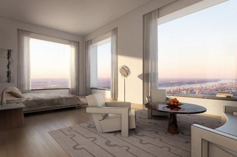 Luxury bedroom high view